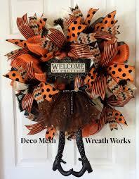 witch wreath halloween wreath deco mesh halloween wreath paper