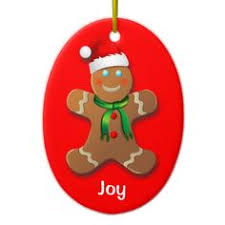 custom gingerbread santa claus silver plated banner ornament