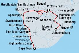 Victoria Falls Map Namibia Tours U0026 Travel Intrepid Travel Us