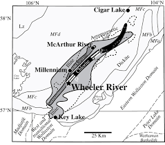 Blank Map Of Saskatchewan by Contrasting Patterns Of Alteration At The Wheeler River Area