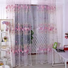 valind sunflower voile door window screening curtains pink lazada ph
