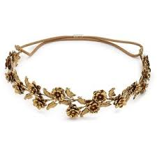 gold hair accessories polyvore