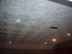 Ceiling Tile Painting Ideas by This Stunning Styrofoam Tile Ceiling Makeover Only Looks Expensive