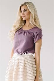 Dusty Purple Cute Purple Chiffon Blouse Modest Bridesmaids Dresses Buy
