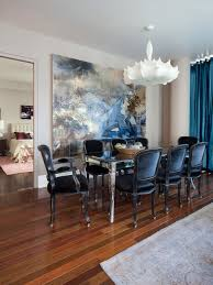 Navy Blue Dining Chairs Houzz - Navy and white dining room