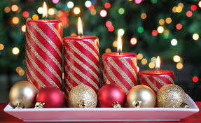 Christmas Decoration For Home A Romantic Christmas Dinner Table Setting With Candles And