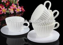 wholesale 100 food grade silicone teacup cupcake mold for cake