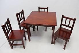 cherry wood kids desk amazon com ehemco kids table and 4 chairs set solid hard wood