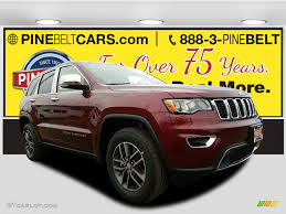 jeep grand cherokee limited 2017 red 2017 velvet red pearl jeep grand cherokee limited 4x4 119090513