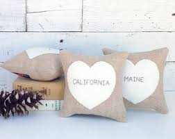 Heart Home Decor State Heart Etsy