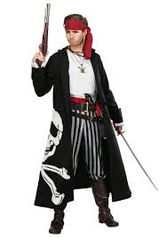 Picture Of A Pirate Flag Pirate Flag Captain Plus Size Costume For Men