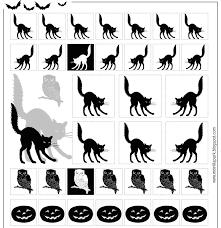 free printable halloween silhouettes free printable halloween stickers black and white ausdruckbare