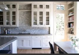 Backsplash With White Kitchen Cabinets Backsplash With White Cabinets And Grey Countertop Fanti