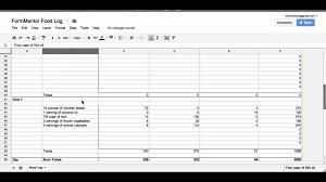 Diet Tracker Spreadsheet Free Diet Tracker Spreadsheet Laobingkaisuo Com