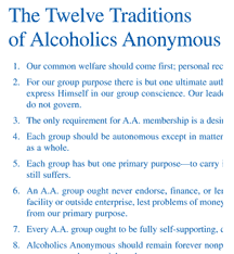 alcoholics anonymous a a literature