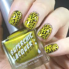 danger high voltage electric nail art with superchic lacquer