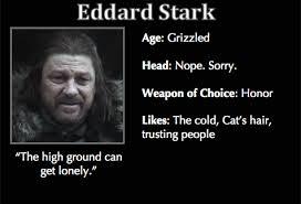 Meme Trading Cards - game of thrones trading cards eddard stark game of thrones memes