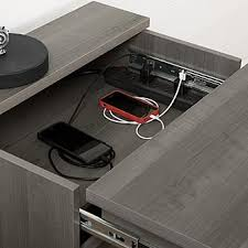 south shore versa nightstand with charging station and drawers