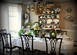 serendipity refined blog spring tablescape with flowers in moss