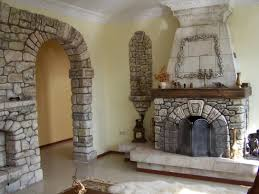 killer house decorating design ideas with stone indoor fireplace