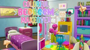 sims 4 colorful kawaii bedroom makeover cc youtube sims 4 colorful kawaii bedroom makeover cc