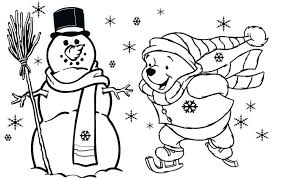 christmas coloring pages preschoolers pooh free kids sunday