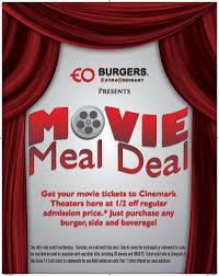 eo burgers movie meal deal community savings beavercreek