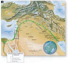 Map Of Canaan The Setting Of The Old Testament Seed And Water