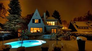 other beautiful backyard pool winter houses pools night snow