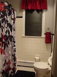 Bathroom Window Treatment Ideas Colors Black Red Gray U0026 White Bathroom I Love It Bathroom
