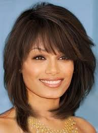 wigs medium length feathered hairstyles 2015 sweet layered bob hairstyle mid lenght straight capless synthetic