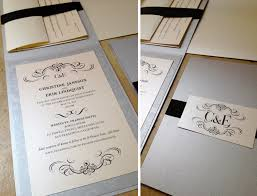 Wedding Invitations With Rsvp Cards Included Custom Wedding Invitations Vertical Folded Card Ribbon Sash