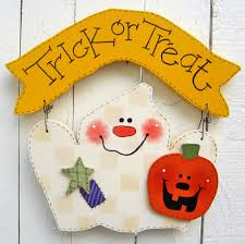 halloween ghost hanger trick or treat halloween decor ghost