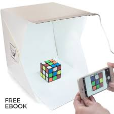 brightbox portable mini photo studio with led light