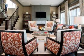 Ikat Armchair Ikat Chairs With Ikat Chair Family Room Transitional And Polyester