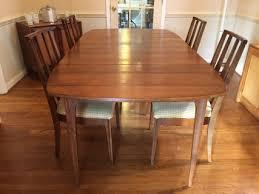 mid century modern broyhill brasilia dining table epoch