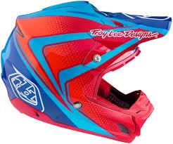 purple motocross helmet troy lee designs lps 7605 troy lee designs se3 neptune blue red