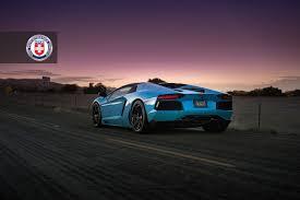 Lamborghini Aventador On Road - baby blue lamborghini aventador roadster on hre wheels rear side