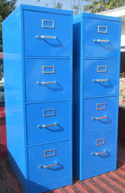 furniture contemporary fireproof file cabinet in blue with silver