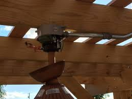 beam mount for ceiling fan need help mounting our new outdoor ceiling fan under our pergola