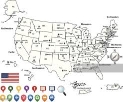 Southeastern Usa Map by Usa Map Outline With State Capitals And Its Territories Vector Art