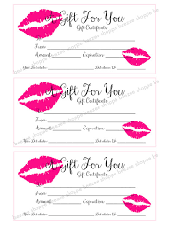 printable gift cards printable gift certificate lipsense senegence gift card