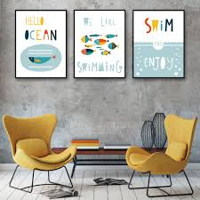 cartoon marine life colour fish art canvas poster print picture cartoon marine life colour fish art canvas poster print picture modern minimalism home decor painting no frame free shipping in painting calligraphy from