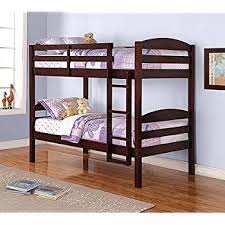 Amazoncom Mainstays Twin Over Twin Wood Bunk Bed Espresso - Espresso bunk bed