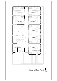 Rectangle House Floor Plans Gallery Of Bioclimatic And Biophilic Boarding House Andyrahman