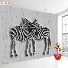 shinehome black and white zebra strips wallpaper 3d photo rolls