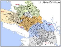 california map oakland bureau of field operations city of oakland california