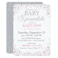 pink and silver baby shower pink sparkle baby shower gifts on zazzle
