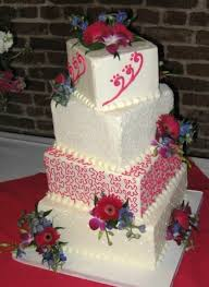 pink and turquoise wedding cake in caldwell id bayberries
