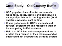 Old Country Buffet Recipes by Managing Trade Secrets In A Franchising Arrangement Ppt Download